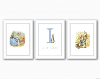 Peter Rabbit Trio - Name/Images Print