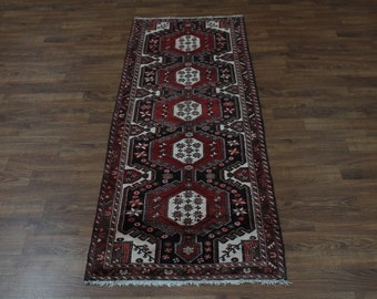 Fantastic Unique Design Runner Hamedan Persian Rug Oriental Area Carpet 3'7X9'6