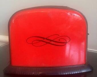 Vintage Ohio Art Red & Black Toy Toaster