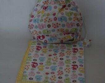 Baby's Yellow Blanket & Matching bag