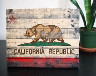 California Flag, Wooden, Rustic,Wall deco, Wall Art