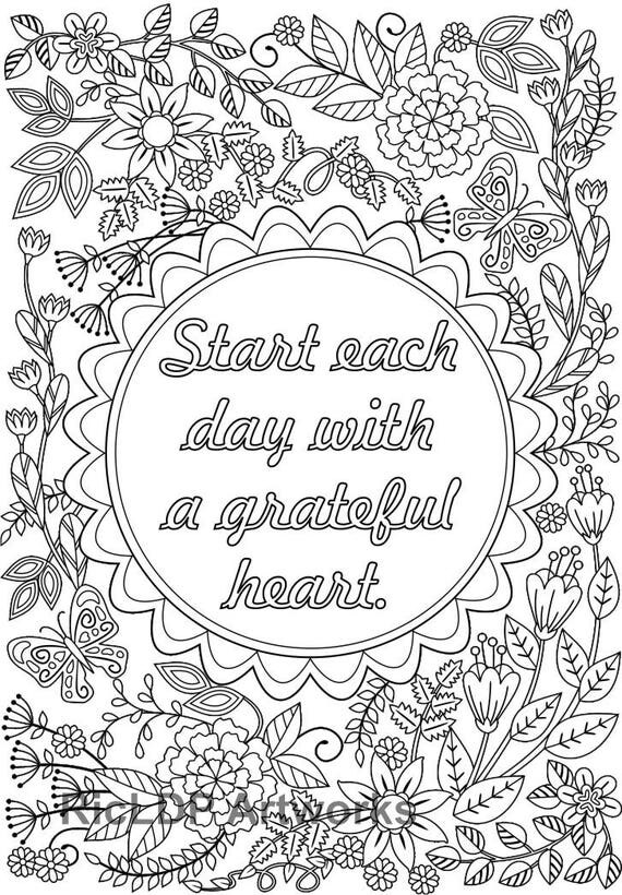 2 coloring pages with the message  u0026 39 start each day with a