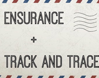 Tracking info + ensurance on your order