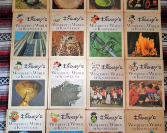 Vintage 1971 Disney's Wonderful World of Knowledge 16 Books  Set