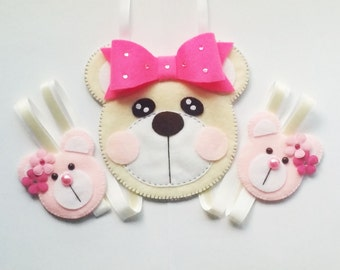 Teddy Bear Hair Clip Holder , hair clip organizer