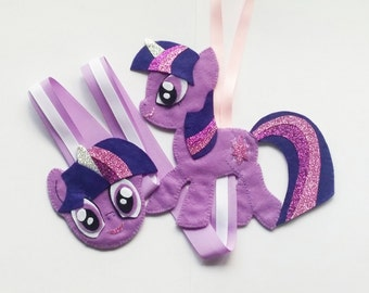 My Little Pony Hair Clip Holder (purple) , hair clip organizer