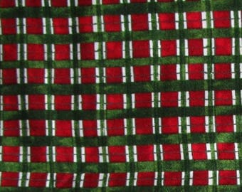Check fabric red and green christmas fabric 100% cotton