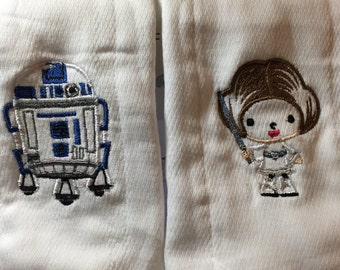 Star Wars burp clothes - set of three. May the Force be with you.