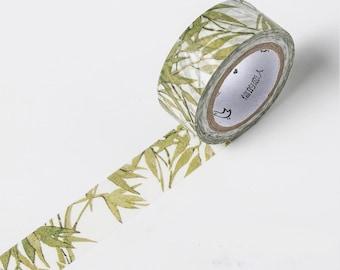Green Bamboo Leaf Washi Tape