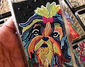 iPhone 7/7plus case, iPhone 6/6S/6plus/6Splus case, iPhone 5/5S/5C/SE case, iPhone 4/4S case - I love animal - Shih Tzu - Black #3