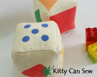 Plush blocks, soft baby blocks, educational toy, educational gift earning, toddler gift, homeschool, baby gift, learn colors, learn counting