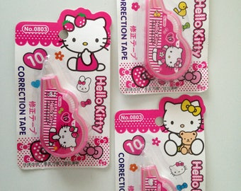 Hello Kitty cute kawaii kitsch plain white correction tape 10m choice of design