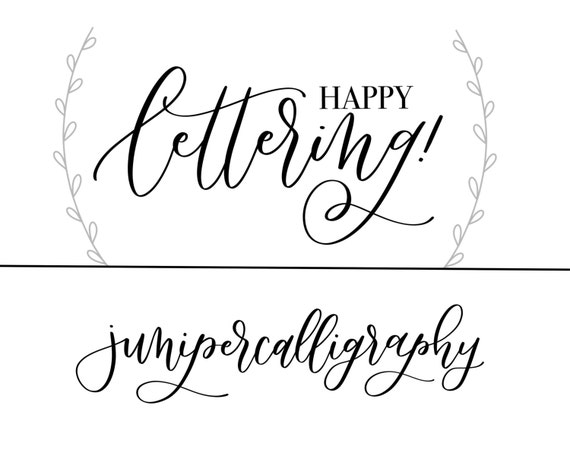 Modern Calligraphy Capitals Practice Sheets From