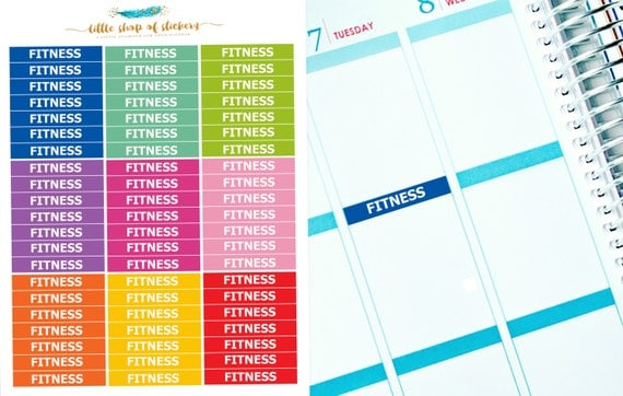 Fitness Headers    Functional Stickers, Workout Headers, Stickers For Planner, Planner Stickers, Fitness Stickers, Header Stickers