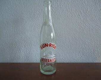 Vintage Sunrise bottle - Sunrise beverages - Sunrise cola bottle - Vintage glass bottom - Vintage glass - Old glass bottle, Soda collectible