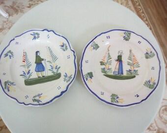 Old Quimper Plates