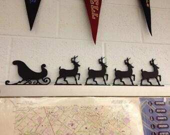 Santa Sleigh & Reindeer Christmas Decoration