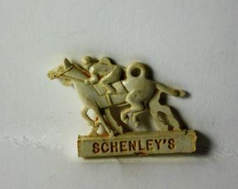 Vintage SHENLEY'S HORSE RACING Charm Cracker Jack Toy Prize