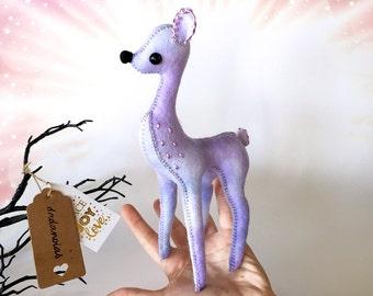 OOAK Plush | Art Doll | Handmade Creature | Deer | Fawn Miniature | Deer Doll |  Kawaii Soft Toy | Fawn Fairy | Baby Deer | Wool Felt