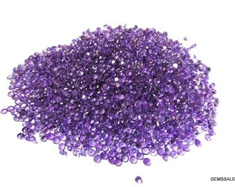 10 piece 3mm purple amethyst round faceted wholesale gemstone - natural amethyst faceted round loose gemstone - semi precious gemstone