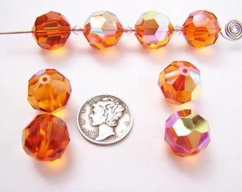 Swarovski 5000 Chili Pepper 12mm Faceted Round Crystal Beads (1 piece)