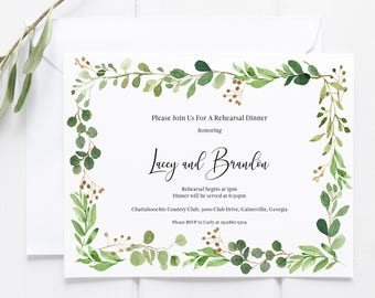 Rehearsal Dinner and RSVP with Meal Options