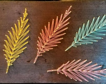 Colorful Feathers String Art