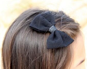 bar node, pins to hair, big hair, bow hair bow