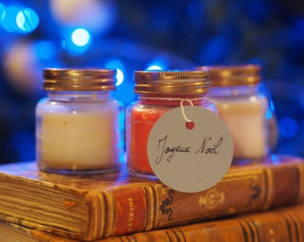 Christmas in a glass jar candle