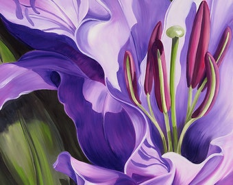 Flamboyance, a Lily Flower Limited Edition Print from an original oil painting by artist Karen Hollis