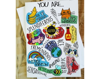 Best Friend Card, You Are Awesome, Funny Birthday Card, Encouragement Card, I love you Cards, Inspirational Cards, Mothers Day Card, New Job