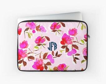 Laptop Sleeve: Dizzy Pink Floral