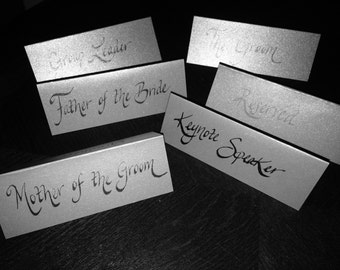 Silver Shimmer Place Cards