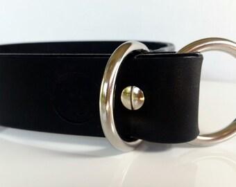 """Leather Slip Collar / Leather Dog Collar / Custom Dog Collar / Slip Collar   1.5"""" / 38mm"""