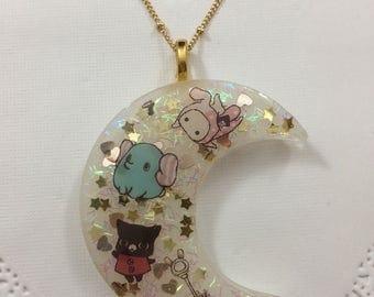 Kawaii Sentimental Circus Crescent Moon Necklace