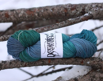 Hand Dyed Superwash Merino/Cashmere/Nylon (80/10/10) -Worsted Weight