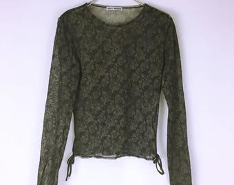 Issey Miyake vintage mesh stretch tops