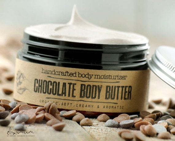 CHOCOLATE Body Butter • Organic chocolate moisturizing body butter.