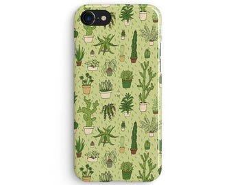 Cactus drawings - iPhone X case, iPhone 8 case, iPhone 8 Plus, iPhone 7 case, Samsung Galaxy Note 8 case 1C084