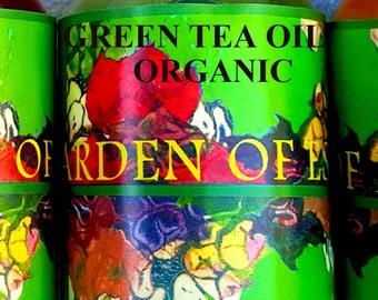 Organic Green Tea Oil UNREFINED Cold Pressed Camellia Oil, Weight Loss Supplement, Organic Camellia Oil Unrefined from Green Tea, Facial Oil