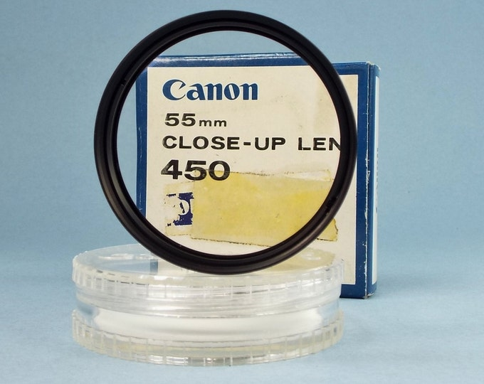 Vintage Canon 55 mm Close-Up Lens 450 - New Old Stock in Original Box - Perfect Mint Condition - For SLR Camera Lenses Both Film & Digital