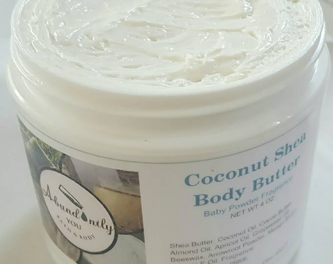 Coconut Shea Whipped Body Butter 8 oz., 4 oz., 2 oz. (Local Pickup Only Cincinnati Area)