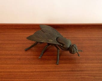 Vintage Brass Fly Ashtray, Dish