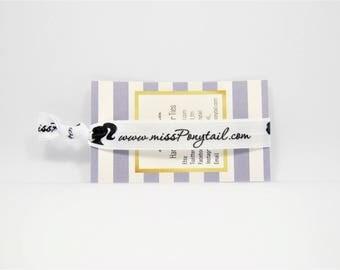 Hair Tie Sample, 1 BUCK SAMPLE, Solid Color Handmade Trendy Ponytail Holders Knotted Elastic Hair Ties