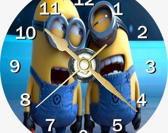 Minions on a CD clock face can be personalised