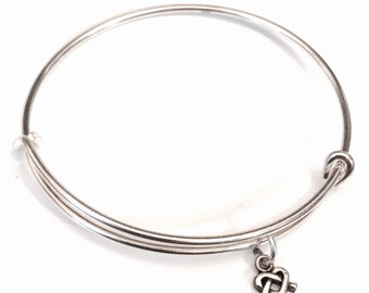 Sterling silver Celtic charm bangles