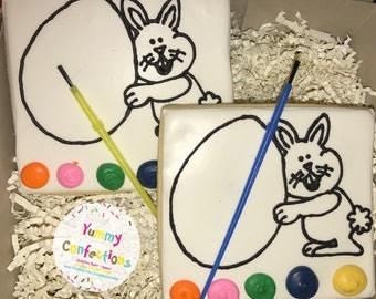 Easter Bunny Easter Egg PYO Cookies - 5 Cookies