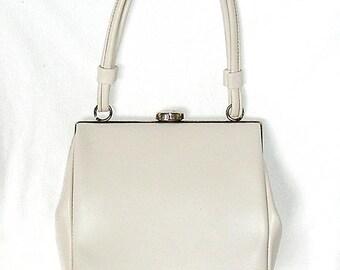 White Faux Leather Handbag