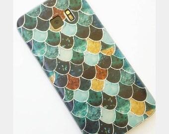 Mermaid Scales phone // Mermaid Scales Iphone case // Iphone scale case // Mermaid phone case // Galaxy 7 case // Iphone 7 case / Phone case