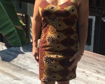 Halter style cotton spandex dress